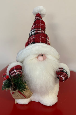 SANTA GNOME PLAID 14""