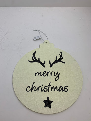"9"" MERRY CHRISTMAS ANTLER SIGN"