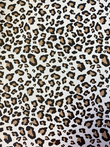 "STAHLS CAD-CUT HTV VINYL 20"" X 12"" SHEET WHITE CHEETAH"