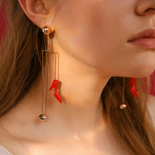 Sky High Red Heels Earrings