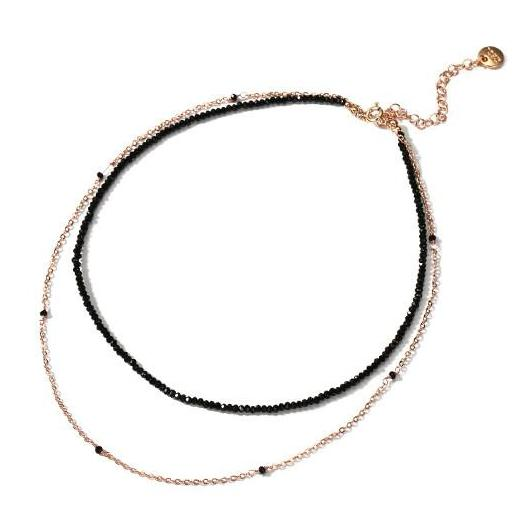 Black & Gold Forever Double Choker Necklace