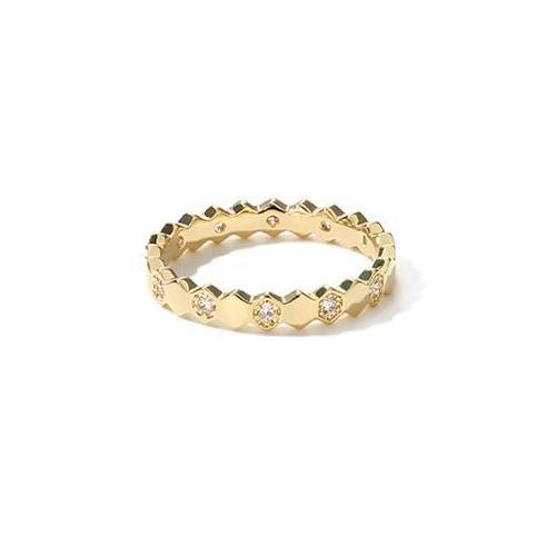 Luxurious Honeycomb Ring
