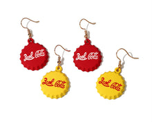 Coca Cola Bottle Cap Earrings