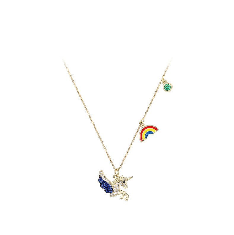 Wings Over A Rainbow Necklace