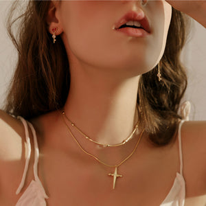 Double Crosser Necklace