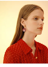 Red Zen Earrings