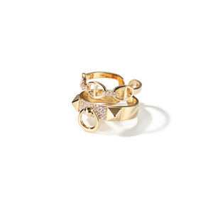 Golden Couple (Adjustable) Ring