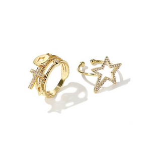 Sweet Sonnet Star Rings
