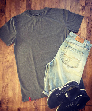 Signature Tee in Grey