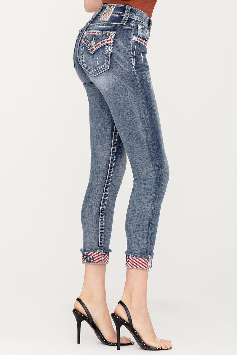 Star Spangled Ankle Skinny Jeans