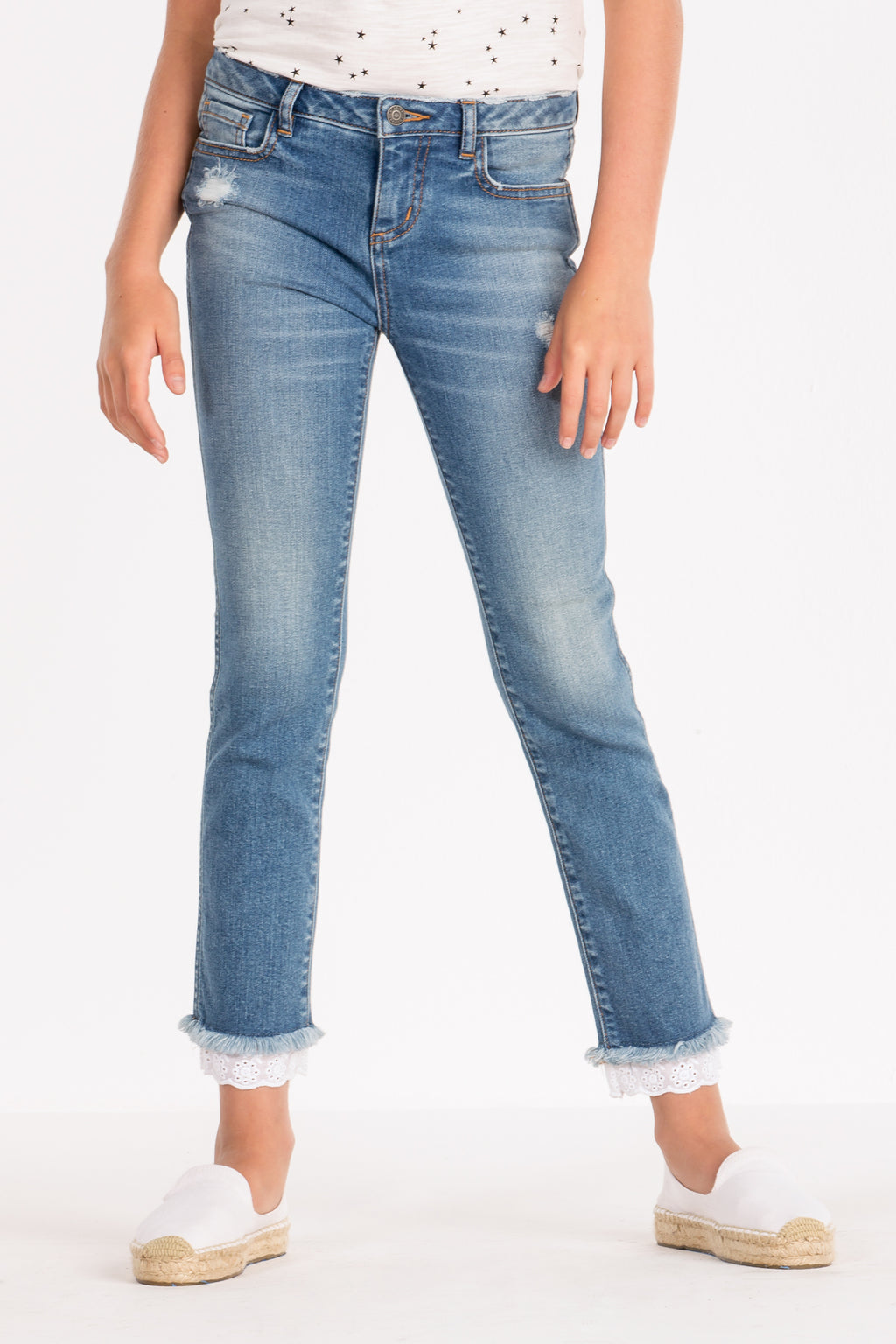 d20984439 GIRLS LACE IS MORE STRAIGHT LEG JEANS