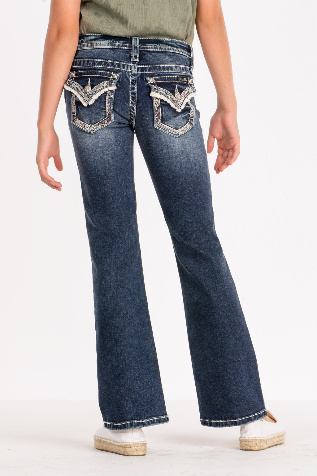 2eb668eb GIRLS FRILLY AND FLIRTY BOOTCUT JEANS