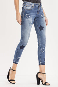 LUCKY STARS MID-RISE ANKLE SKINNY JEANS