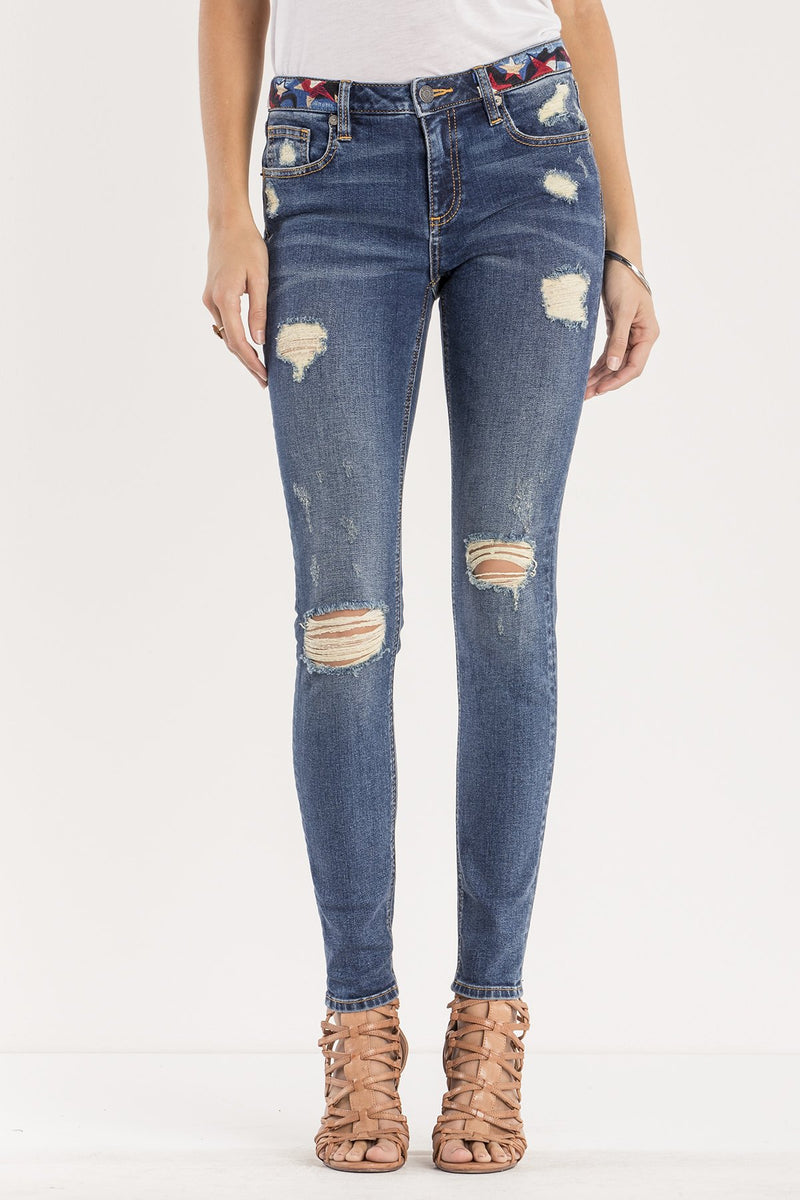 LET IT RIP MID-RISE SKINNY JEANS