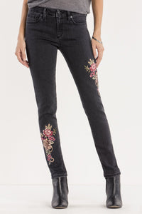 TAKE A BOW MID-RISE SKINNY JEANS