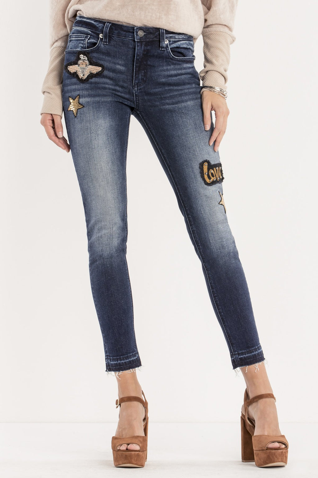 NOTHING BUT LOVE MID-RISE ANKLE SKINNY JEANS