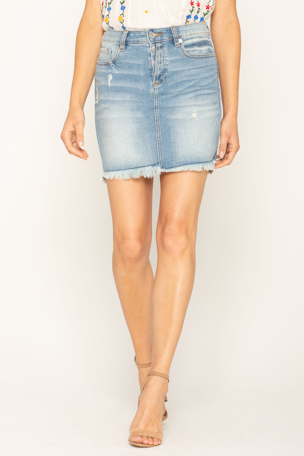 5a01d002265 FOREVER AND ALWAYS DENIM SKIRT