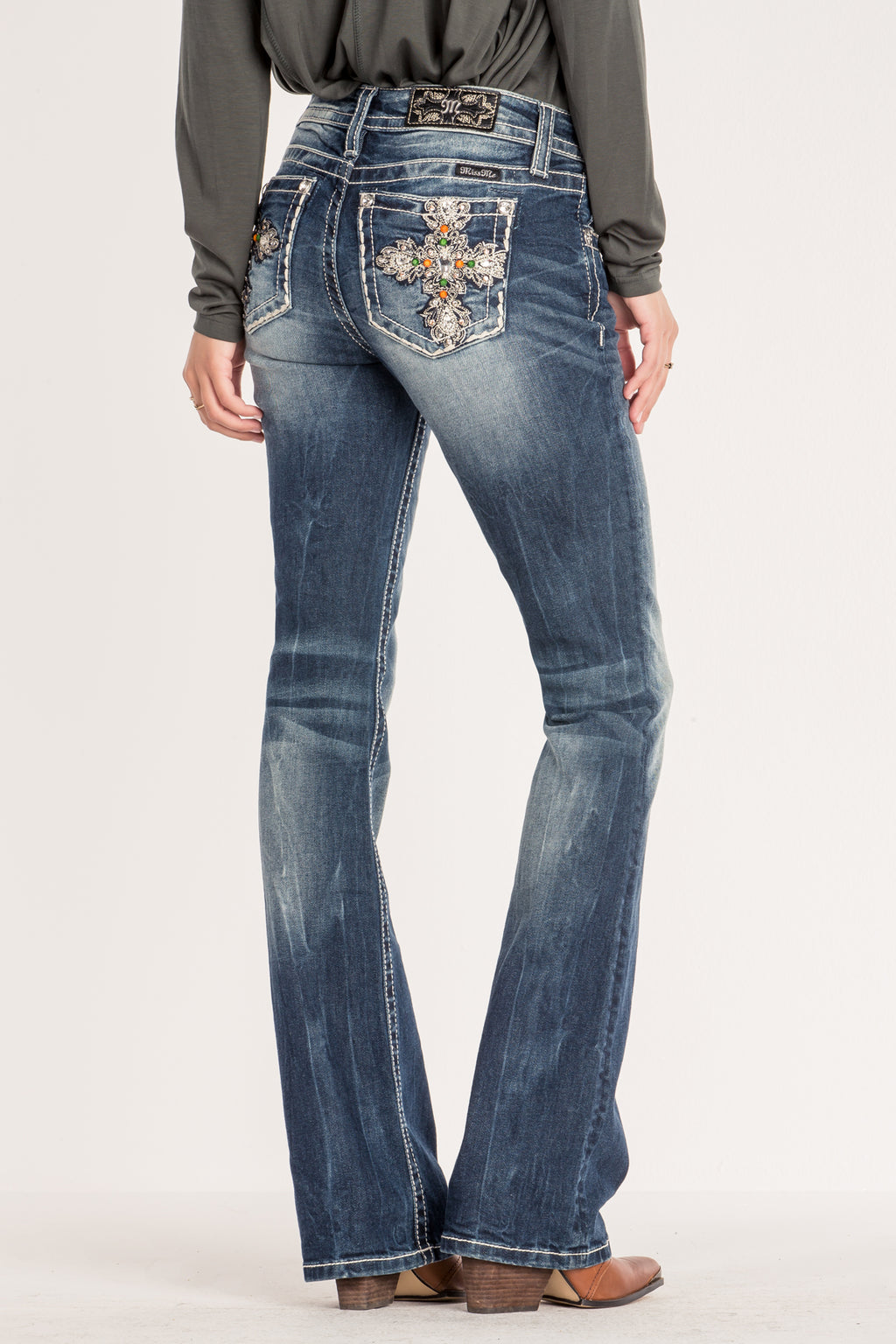 45cbe6ddeab STAR CROSSED LOVE BOOT CUT JEANS