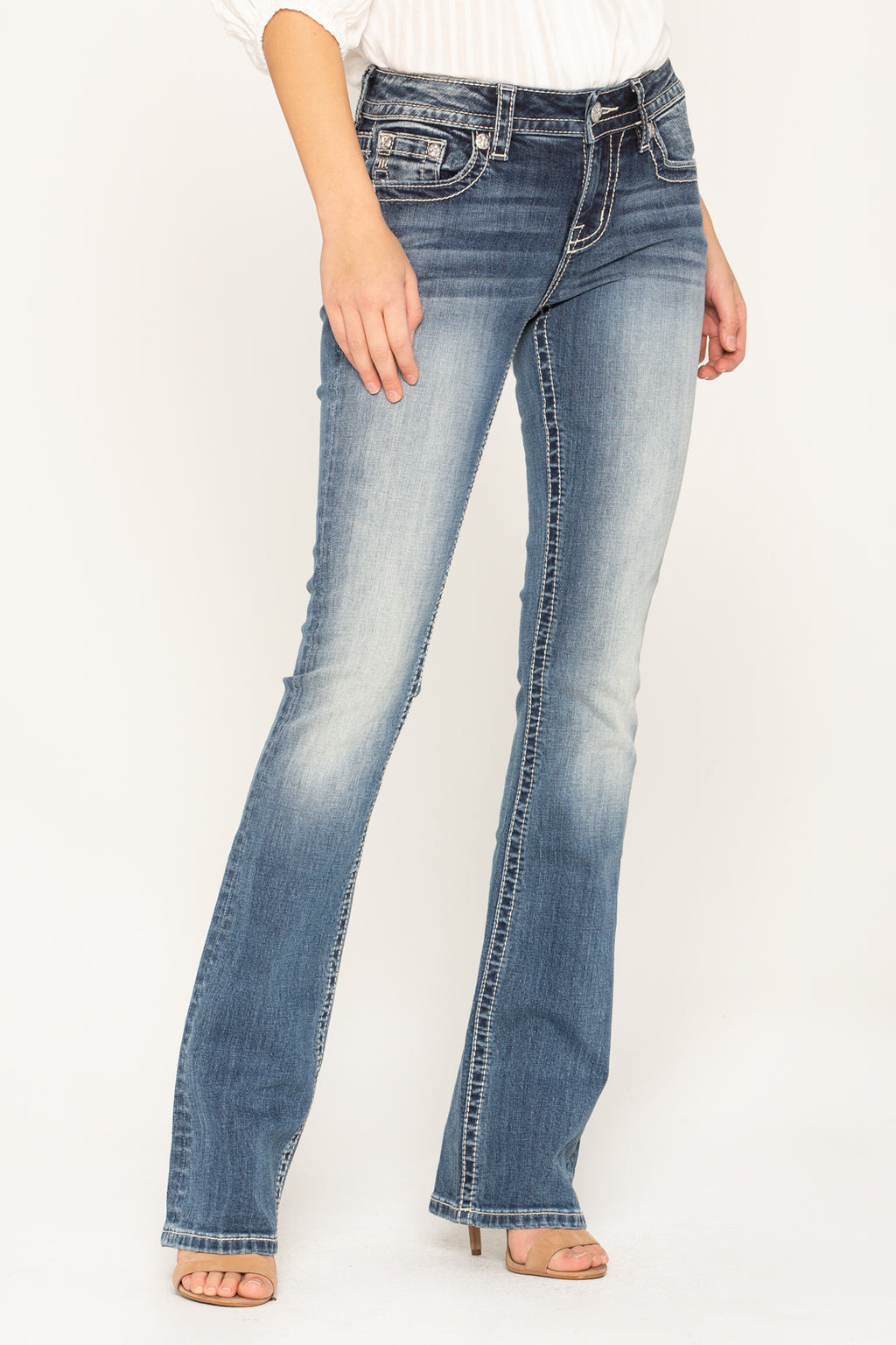 de7a39b5f24 WAY TO MY HEART BOOTCUT JEANS - front