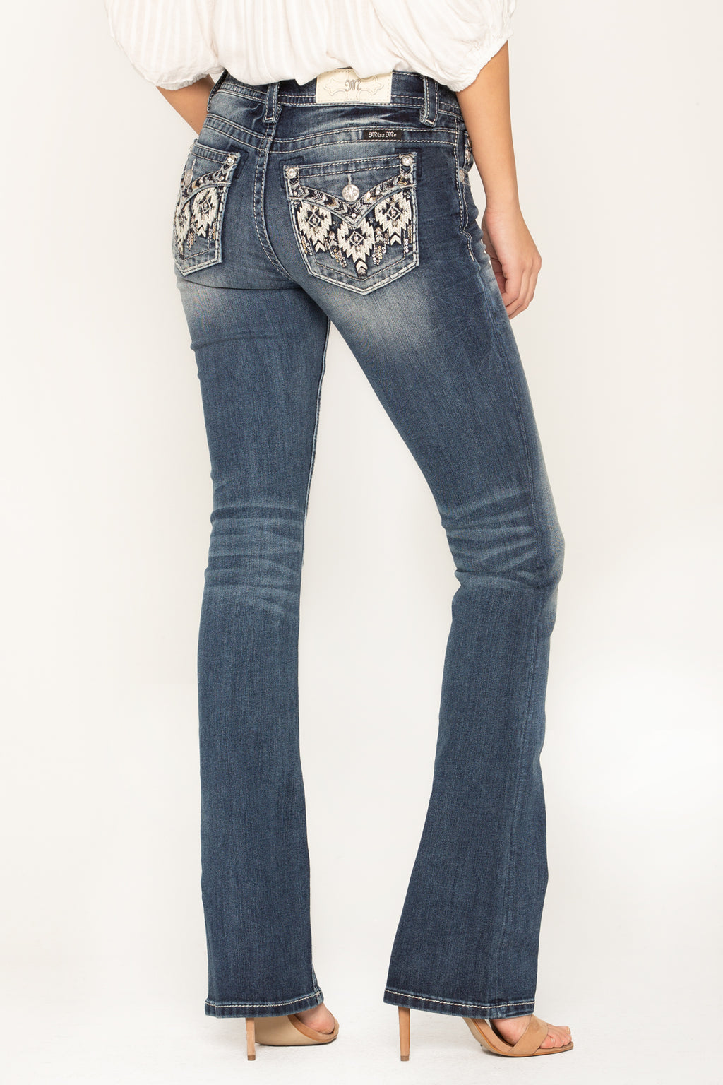 7165aeac2be FORBIDDEN LOVE BOOT CUT JEANS