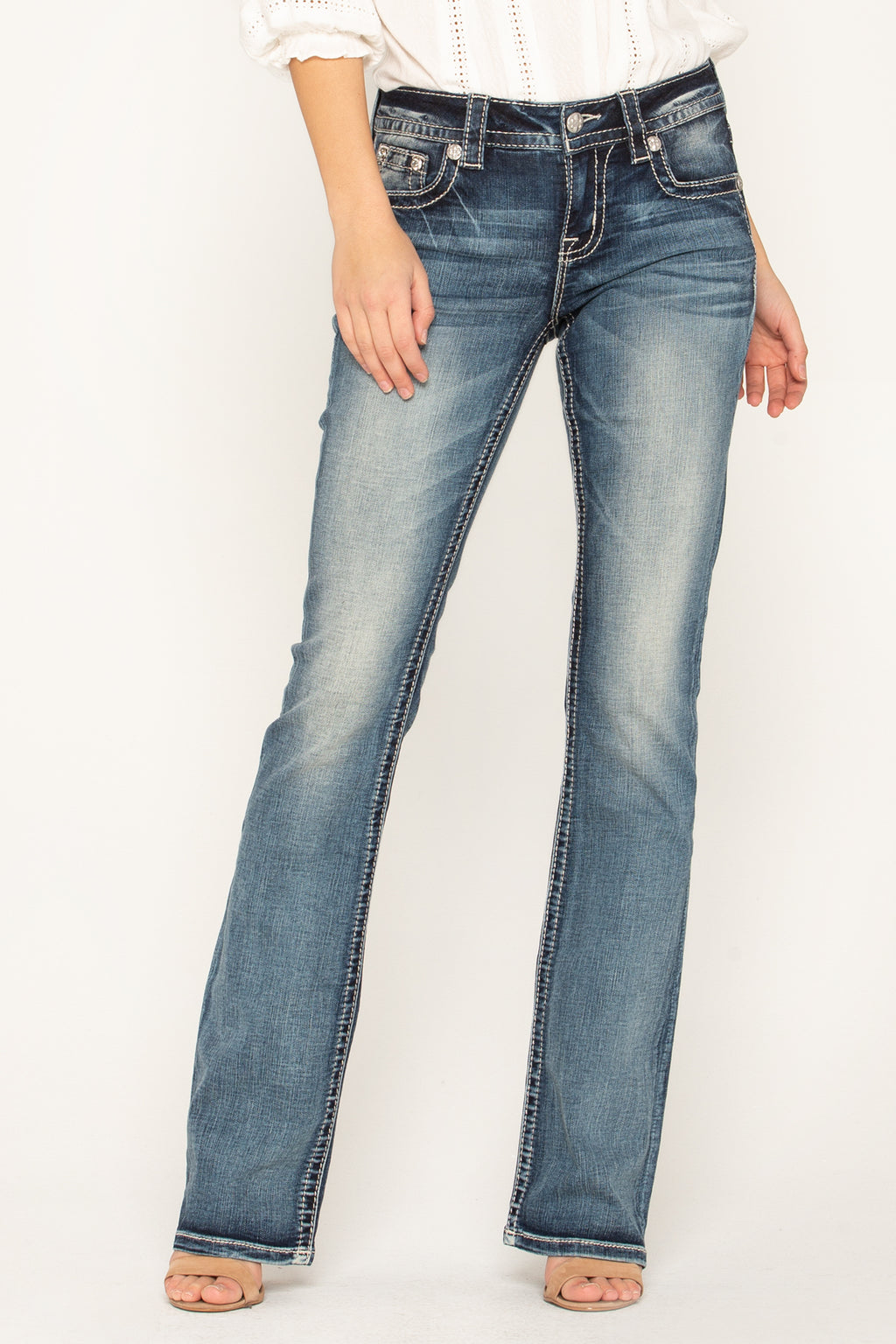 d44bc5aec36 INFINITE LOVE BOOTCUT JEANS - front