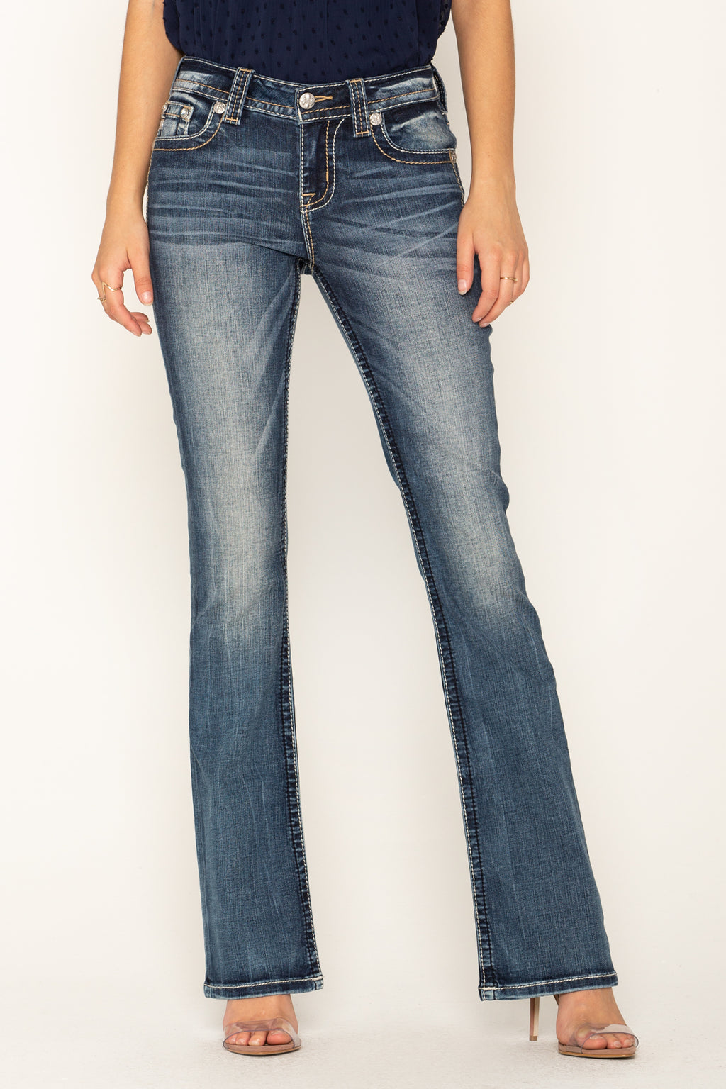 ed7bb52f324 FLY WITH ME BOOTCUT JEANS - front