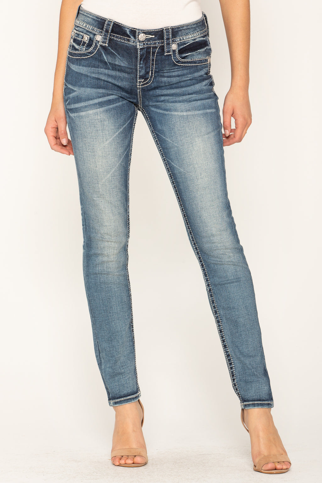 003a414e27a CROWN JEWEL SKINNY JEANS - front