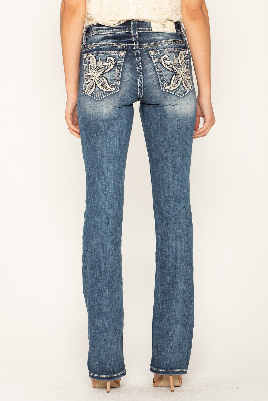 28a404eb IN THE TROPICS SLIM BOOTCUT JEANS