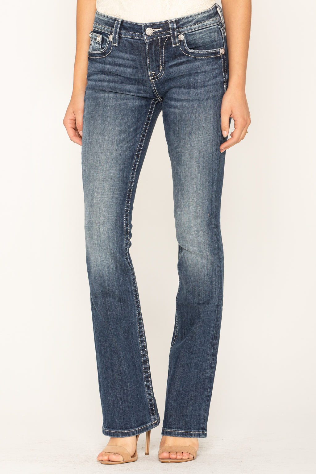 162403b21ffa LIVING IN ROMANCE BOOTCUT JEANS - front