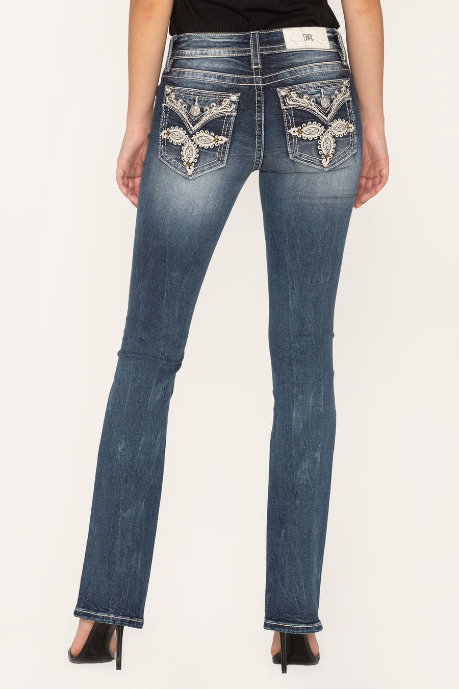 WAVE OF LOVE SLIM BOOTCUT JEANS