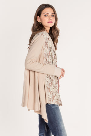 HARMONY LACE DETAIL CARDIGAN