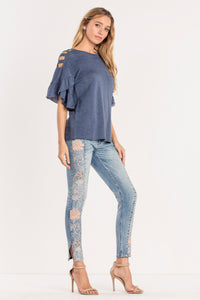 IN LUCK OPEN-SHOULDER TEE