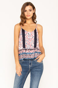 PLAY BY PLAY PRINTED BUTTON FRONT TOP