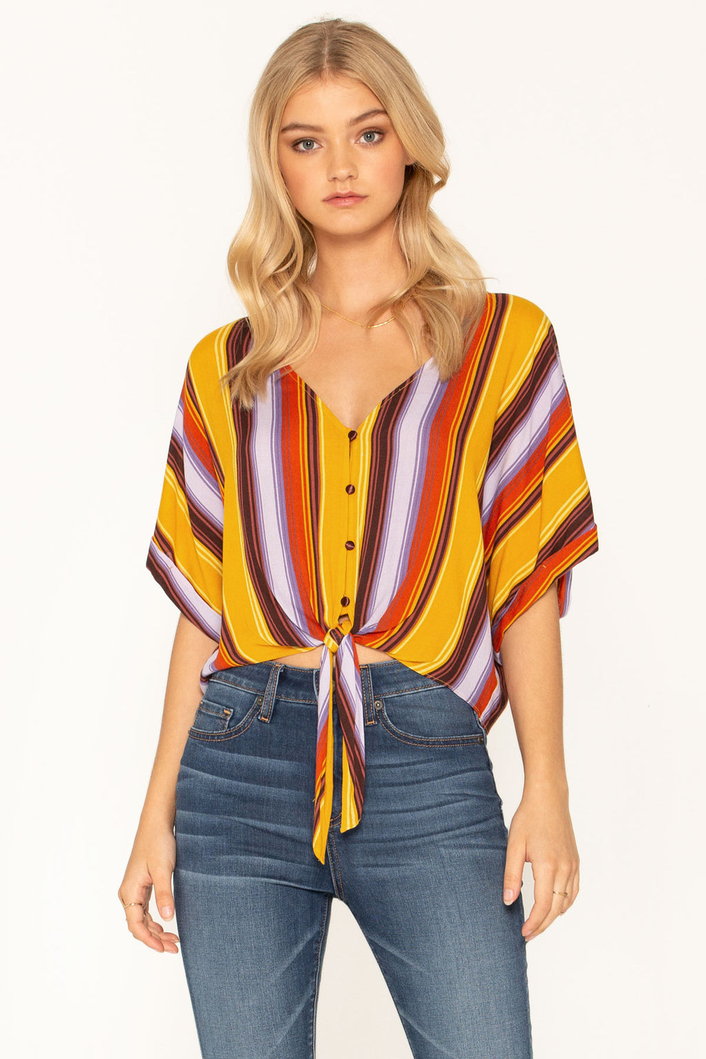 bfb152bf14ca4 GOLDEN HOUR MULTICOLOR SHORT SLEEVE TOP