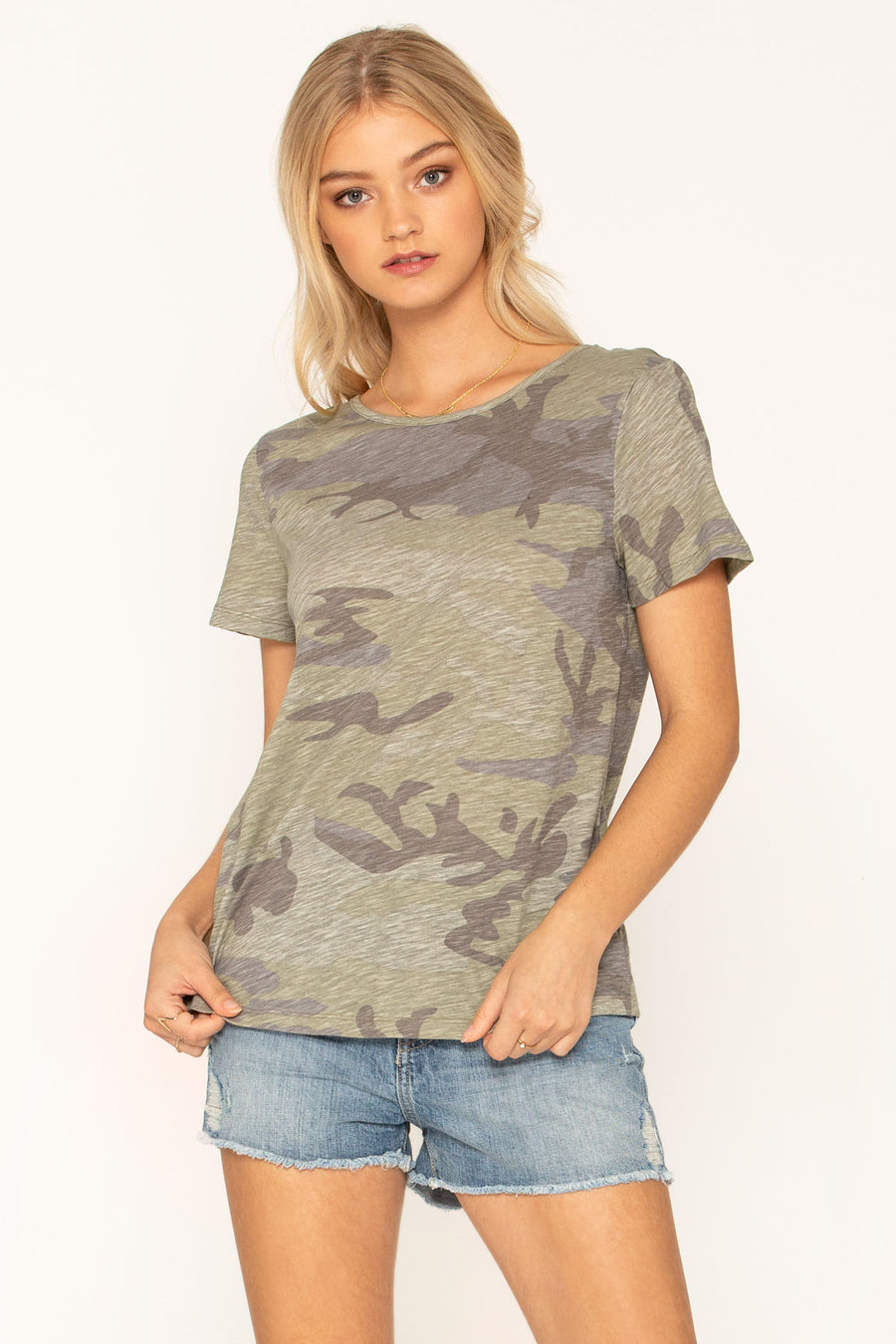 CAMO FEMME STRAPPY BACK TOP