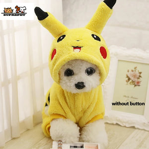 Cat Costume  Clothes Autumn Winter  Cat clothes Home Pajamas Puppy Hoodie Dog Coat