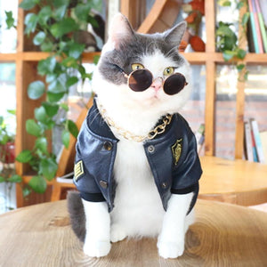Casual Summer Leather Clothing For Cats