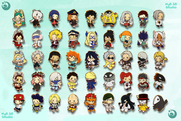 BNHA Plush 2 Pins (B-Grades ONLY)