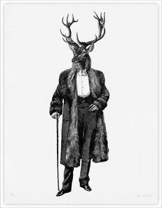 Father Stag giclee print