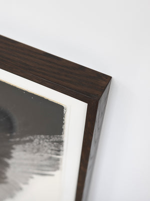 'Shade of the Living Light' ~ ready framed in dark sapele wood