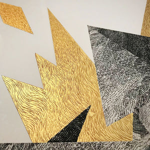 'Signal' with gold leaf and pencil. 56cm x 76cm