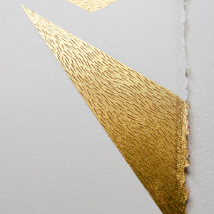 Signal ~ with 24ct gold-leaf and drawing