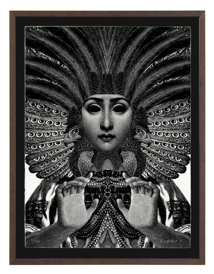 'Sorceress' ~ ready framed in dark ash
