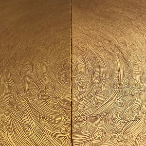 'Frontiers' diptych, with 24ct gold leaf