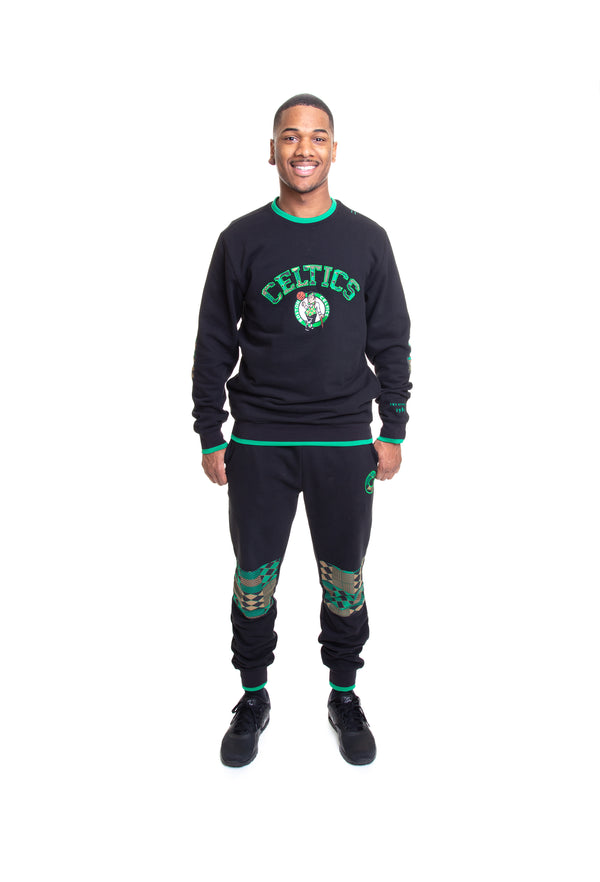 Boston Celtics Kente Elbow Patch Crew
