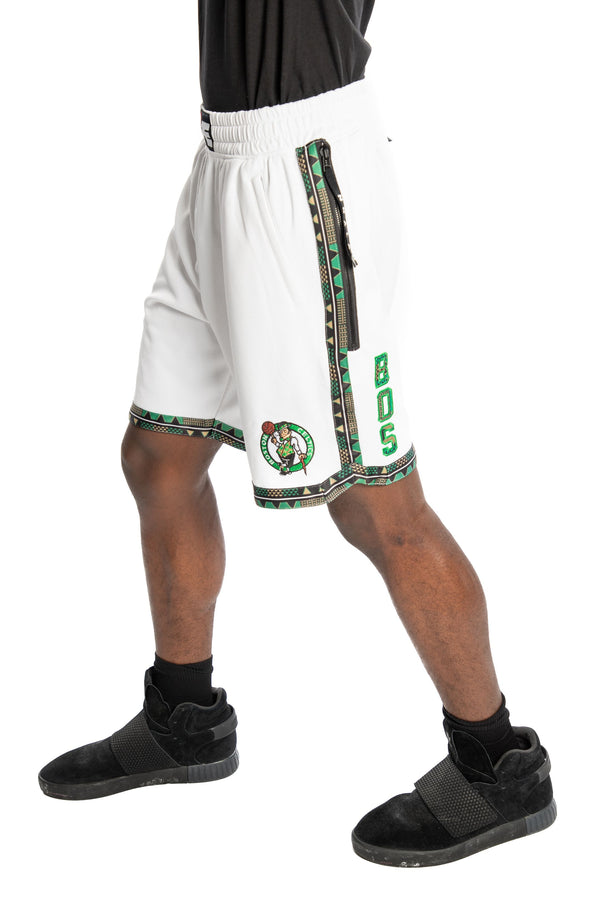 Boston Celtics Kente Dunk Short White