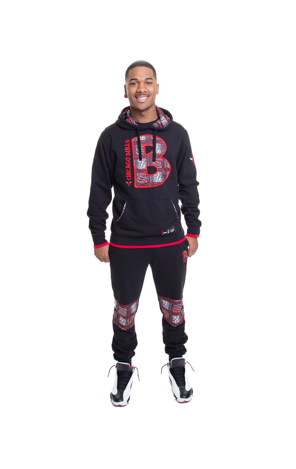 Chicago Bulls 90's Kente Team Letter Hoodie