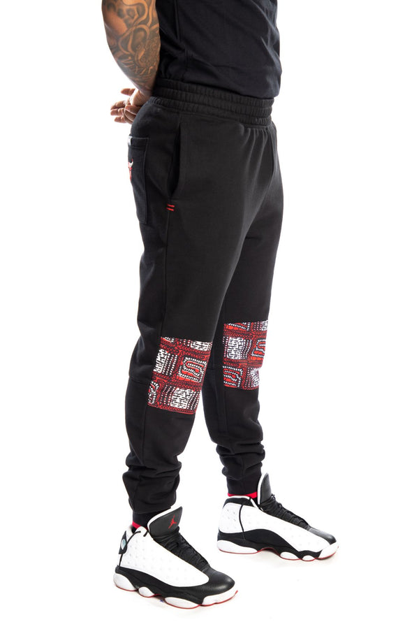 Chicago Bulls Kente Knee Patch Pant