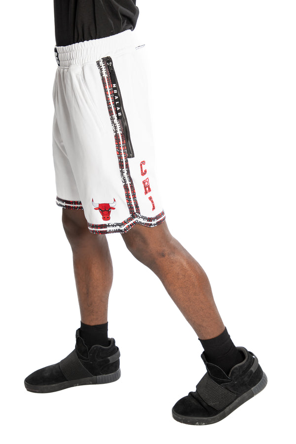 Chicago Bulls Kente Dunk Short White