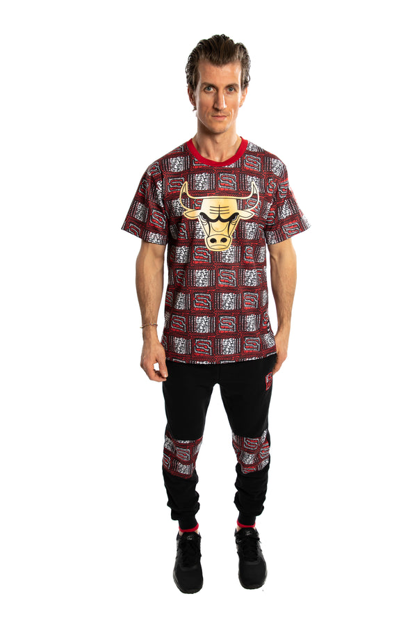 Chicago Bulls Team Kente Print Performance T-Shirt